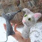 """Fingerpuppen """"Katz&Maus"""""""