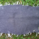 Decke grau mit Naturlocken