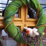 """Türkranz """"Vogel im Nest"""""""