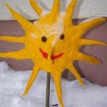 Sonne auf Stab