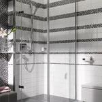 Mosaico Marmo Vetro 15mm Cub Mix Emperador Chiaro