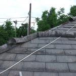 Dach beschädigt nach Sturm