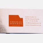 Thomas Doneis |Visitenkarte - infragrau, gute Gestaltung