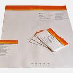everdure | Visitenkarten, Briefbögen - infragrau, gute Gestaltung, vormals für nullplus umgesetzt