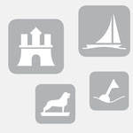 INW |Städte-Iconserie (H, HB, HH, BS, KI, HRO) - infragrau, gute Gestaltung
