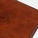 WelfenAkademie |Ledermappe mit Prägung - infragrau, gute Gestaltung