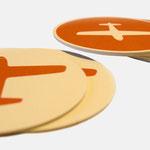 infragrau |Untersetzer, internes CD - infragrau, gute Gestaltung