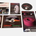 Dorfner Schleifmittelwerke |div. Drucksachen zur Messebegleitung - infragrau, gute Gestaltung