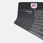 RTK – Reis Tiefbau & Kabelbau |Visitenkarte - infragrau, gute Gestaltung