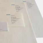 decker architekten | Visitenkarten, Briefbögen, Kurzbrief - infragrau, gute Gestaltung