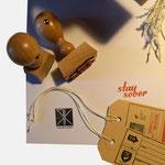 ROUGH & KOZY |Geschäftspapiere, umgesetzt via Stempeltechnik - infragrau, gute Gestaltung