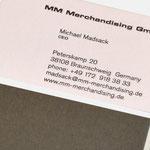 Michael Madsack |Visitenkarte - infragrau, gute Gestaltung