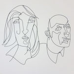 couple 2, 160cmx140cm, plastic coated wire, banck 2013