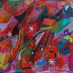 cassiopeia, 140x105cm, oil+acryl on canvas, banck 2009 #