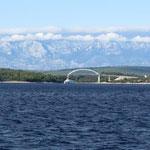 Die Brücke von Zdrelac vebindet Ugljan mit Pasman