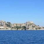 Korfu - von Süden kommend - Sicht auf das alte Fort