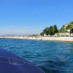 Uferpromenade Zadar vom Wasser aus