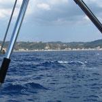 Landfall in der Buch Ag. Yerghios / Korfu