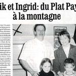 Article la Dépêche du Midi, 10 ans à l'auberge
