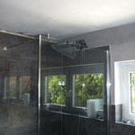 Verkleidung Betondecke Spanndecke glänzend weiß