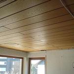 Verkleidung Holzdecken Spanndecke weiß matt