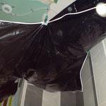 Verkleidung Rigipsdecke / Trockenbaudecke Spanndecke schwarz glänzend