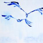 Vögel im Flug 120x 100 cm)