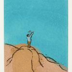 「手に取る宇宙」2019 紙、ガッシュ 20×13.5cm©️Shiro Matsui