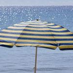 Sonnenschirm am Saga Beach