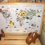 la mappa del mondo illustrata