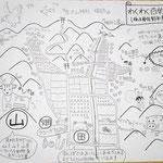 里山農園「やぎファーム」園長の青柳さん作成の里山全貌MAP