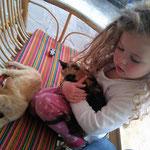 Als Luana krank war, hatte sie nur noch Kraft für die Katzen.
