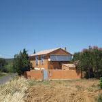 La maison vue de la route
