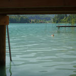 türkises Wasser im Faaker See