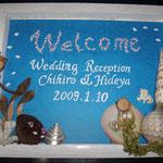 結婚式のウェルカムボードを作った方もいます!