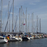 Ystad Marina internationale Flaggenparade