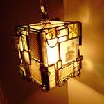 古いガラスネガを使ったランプ  sold out