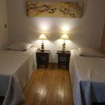 Chambre Rouge-Gorge, 2 lits indépendants 90x190