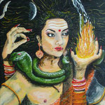 Shivani acrylique sur toile (46 x 38 cm)