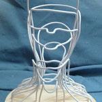 """""""L'araignée"""" sculpture en fil de fer et bois"""