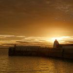 Leutturm im Hafen von Burghead