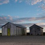 Lagerhäuser im Hafen von Burghead