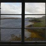 Blick aus dem Fenster, Dunvegan Castle, Skye