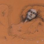 Hingeben, 2016, 56,5x37cm, Graphit/Fineliner,Papier, A20                   ©Raimund Egbert-Giesen