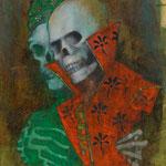 Todesspiel, 2003, 53x36cm, Mischtechnik/Papier, P86              ©Raimund Egbert-Giesen