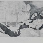 Nachtschichten, 2002, 43x26cm, Radierung/Bütten, R1              ©Raimund Egbert-Giesen