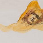 Abendstimmung, 2016, 50x36,5cm, Fineliner/Aquarell/Papier, A30                   ©Raimund Egbert-Giesen