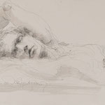 Verschmelzen, 2018, 39x26,5cm, Fineliner/Tusche/Papier, A24                  ©Raimund Egbert-Giesen