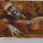 Jesus, 2016, 55x36cm, Mischtechnik/Papier, A6                  ©Raimund Egbert-Giesen