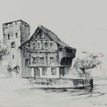 Stansstad, 2018, 45,5x26,5cm, Fineliner/Bütten, N66                      ©Raimund Egbert-Giesen